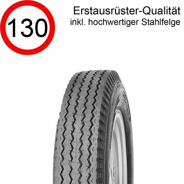 5.00-8 Rad / 5.70-8 Komplettrad 77M 4-Loch Felge 3.00Dx8, LK 4x100 mit Reifen