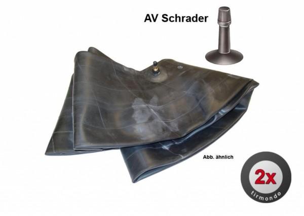 2x Schlauch S 20x1 3/8 +A/V Schrader+
